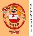 italian pizza | Shutterstock .eps vector #682425118