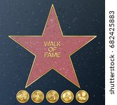 walk of fame. vector star... | Shutterstock .eps vector #682425883