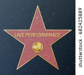 hollywood walk of fame. vector... | Shutterstock .eps vector #682425889
