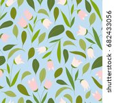 seamless floral doodle pattern... | Shutterstock .eps vector #682433056