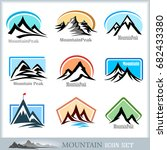 the mountain s icons and clipart | Shutterstock .eps vector #682433380