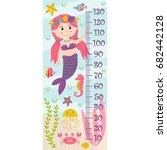 growth measure with mermaid  ... | Shutterstock .eps vector #682442128