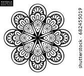 vector indian mandala | Shutterstock .eps vector #682455019