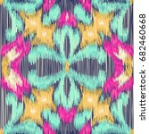 seamless ikat pattern. abstract ... | Shutterstock . vector #682460668
