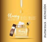 honey serum skin care ads on... | Shutterstock .eps vector #682461004