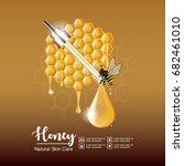 honey serum skin care ads on... | Shutterstock .eps vector #682461010