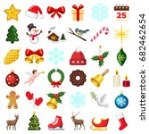 christmas and winter icon... | Shutterstock .eps vector #682462654
