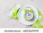 alarm clock with bells on the...   Shutterstock . vector #682464949