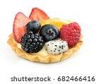 Mixed Fruit Tart Isolated On...