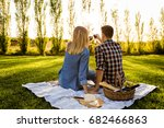 shot of a happy couple enjoying ... | Shutterstock . vector #682466863