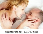 close up of wife and husband...   Shutterstock . vector #68247580
