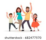 funny family. dad  mother  son... | Shutterstock .eps vector #682477570