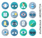 ophthalmology icon set. clinic... | Shutterstock .eps vector #682482724