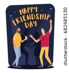 friendship day. young cartoon... | Shutterstock .eps vector #682485130