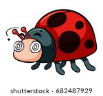 ladybug with dizzy face...   Shutterstock .eps vector #682487929