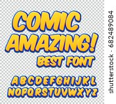 creative high detail comic font.