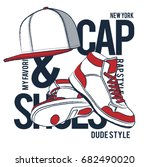hip hop street style elements... | Shutterstock .eps vector #682490020