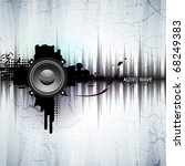 abstract template with a sound... | Shutterstock .eps vector #68249383