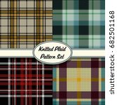 vector knitted plaid tartan... | Shutterstock .eps vector #682501168