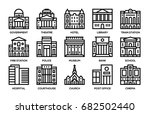 building line icons set. | Shutterstock .eps vector #682502440