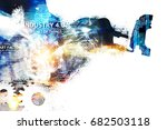 digital transformation of... | Shutterstock . vector #682503118