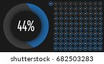 set of circle percentage... | Shutterstock .eps vector #682503283