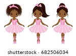 vector cute little african... | Shutterstock .eps vector #682506034