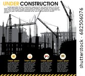 building under construction...   Shutterstock .eps vector #682506076
