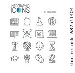 collection of creative thin... | Shutterstock .eps vector #682511404