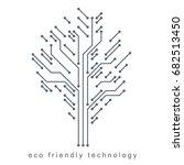vector illustration of tree... | Shutterstock .eps vector #682513450