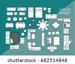 vector interior design elements.... | Shutterstock .eps vector #682514848