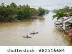 mekong delta in vietnam. boats... | Shutterstock . vector #682516684