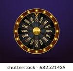 fortune wheel  game spin ... | Shutterstock .eps vector #682521439