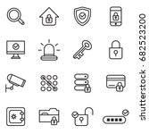 security and protections icons | Shutterstock .eps vector #682523200