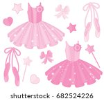 vector set with ballet shoes... | Shutterstock .eps vector #682524226