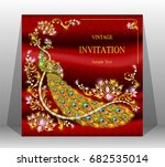 luxury wedding invitation card... | Shutterstock .eps vector #682535014
