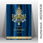luxury wedding invitation card... | Shutterstock .eps vector #682536928