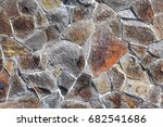 fragment of a wall from a... | Shutterstock . vector #682541686