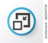 minimize icon symbol. premium... | Shutterstock .eps vector #682544734
