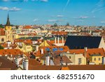 prague architecture  background | Shutterstock . vector #682551670