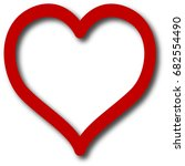 red heart logo vector | Shutterstock .eps vector #682554490