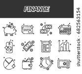 finance flat icons set.