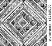 black and white tribal vector...   Shutterstock .eps vector #682565170