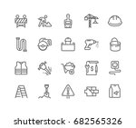 simple set of construction... | Shutterstock .eps vector #682565326