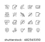 Stock vector simple set of copywriting related vector line icons editable stroke x pixel perfect 682565350