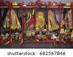 Small photo of Firefighter locker room