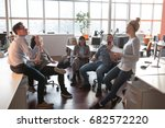 group of a young business... | Shutterstock . vector #682572220