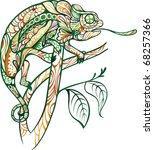 chameleon | Shutterstock .eps vector #68257366
