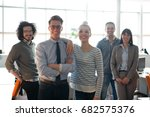 portrait of young business... | Shutterstock . vector #682575376