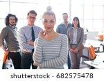 portrait of successful... | Shutterstock . vector #682575478